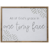 God's Grace In One Face Wood Wall Decor