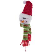 Plush Snowman With Santa Hat Pick