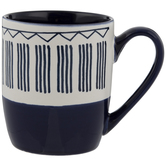 Blue & White Striped Mug