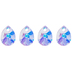 Crystal AB Swarovski Pear Pendants - 10mm