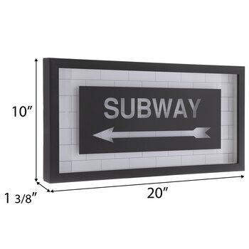 Subway Framed Wall Decor