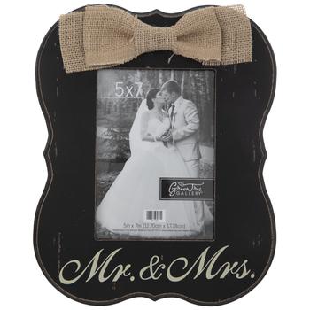 "Mr & Mrs Wood Wall Frame - 5"" x 7"""