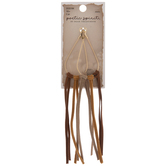 Teardrop With Leather Tassels Pendants