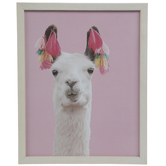 Tasseled Llama Wood Wall Decor