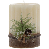 Fresh From The Oven Double Layered Pine Pillar Candle