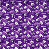 Kansas State Allover Collegiate Cotton Fabric