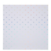 "White & Holographic Foil Polka Dot Scrapbook Paper - 12"" x 12"""
