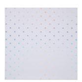 "White & Holographic Foil Polka Dot Scrapbook Paper - 12"" x 12"""