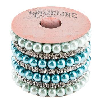 Glass Pearl & Rhinestone Bracelets
