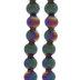 Multi-Color Round Metal Bead Strands