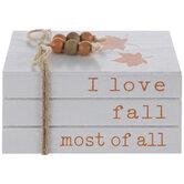 I Love Fall Stacked Wood Decor