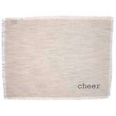 Cheer Beige Fringed Placemat