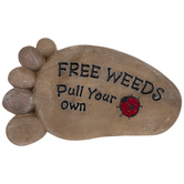 Free Weeds Footprint Stepping Stone