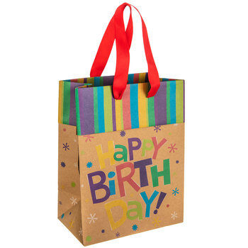 Kraft Happy Birthday Gift Bag