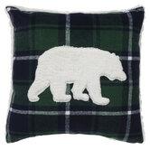 Bear & Green Plaid Pillow