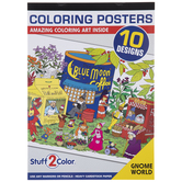 Gnome World Poster Coloring Book