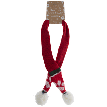 Red Holiday Dog Scarf - Medium
