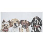 Dog Friends Canvas Wall Decor
