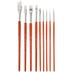 White Nylon Paint Brushes - 9 Piece Set