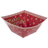 Red Snowflake Paper Bowls