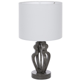 Distressed Gray Lamp