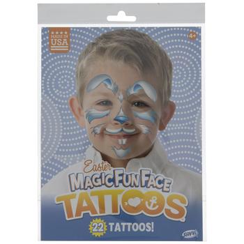 Blue Bunny Face Temporary Face Tattoos