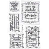 Quotations Clear Stamps