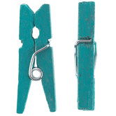 Turquoise Clothespins - Small