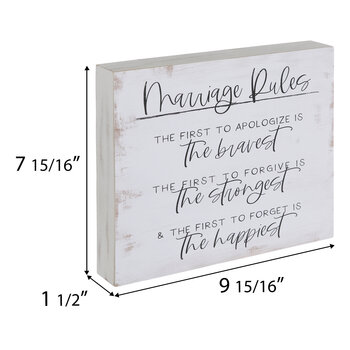 Marriage Rules Wood Wall Decor