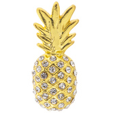 Pineapple Rhinestone Brooch