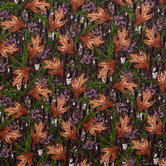 Camo Leaves Flannel Fabric