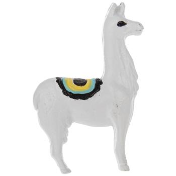 White Llama Metal Knob