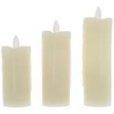 LED Flickering Pillar Candles