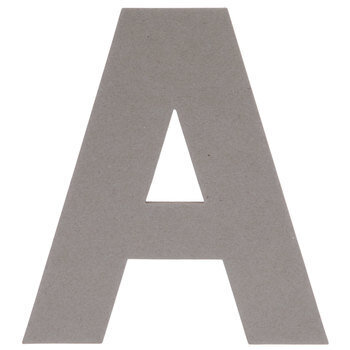 Chipboard Letter A - 8""