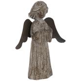 Wood Look Standing Angel
