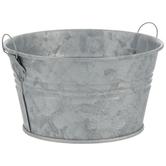 Round Galvanized Metal Bucket