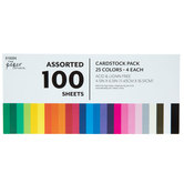 "Assorted Cardstock Paper Pack - 4 1/2"" x 6 1/2"""