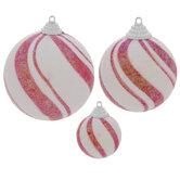 Iridescent Peppermint Ball Ornaments