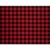 Red & Black Buffalo Check Faux Leather Ribbon - 8