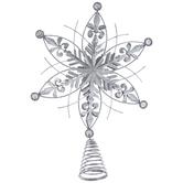Snowflake Star Metal Tree Topper