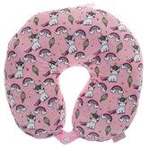 Rainbow Unicorn Plush Travel Neck Pillow