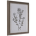 White & Brown Floral Framed Wall Decor