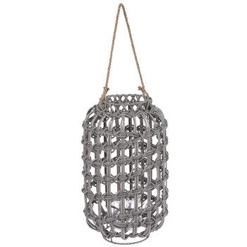 Gray Woven Lantern