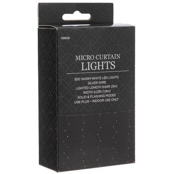 Warm White LED Micro Curtain Lights