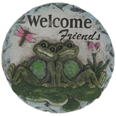 Welcome Friends Frog Stepping Stone