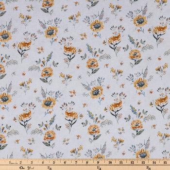 Yellow Mum Flower Duck Cloth Fabric