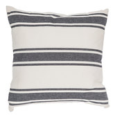 Natural & Black Striped Pillow
