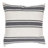 Natural & Black Striped Pillow