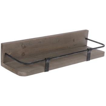 Dark Brown Wood Wall Shelf