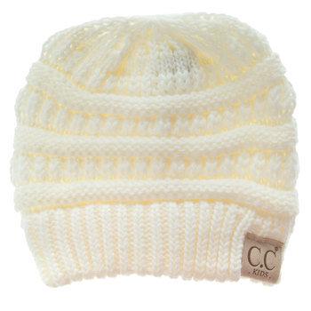 Ivory C.C Kids' Knit Beanie